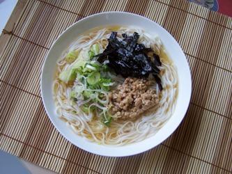 納豆ぶっかけ米粉麺